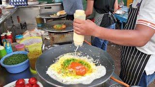 Mexican Peri Peri Omelette: Amul Butter & Cream Special Egg Dish Recipe || Surat, Indian Street Food