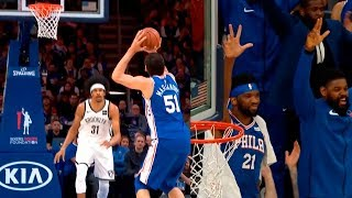 Boban Marjanovic hits his 2nd career three-pointer! Sixers vs Nets