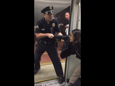 Woman creates Unnecessary Scene with Police over misConduct on Bus. Another woman Spits on Officer.