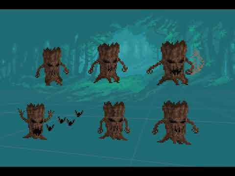 Evil Tree Pixel Art Monster Enemy