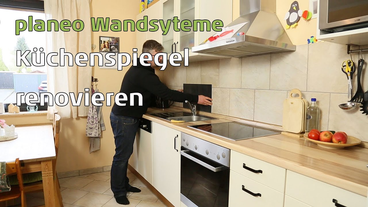 k chenspiegel renovieren mit planeo wandpaneele youtube. Black Bedroom Furniture Sets. Home Design Ideas