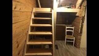 видео Лестница в деревянном доме
