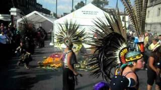 Nahuatl Aztec Indian Dia De Los Muertos Dance, Mexico City ( the Zocalo ) Day of the Dead Festival