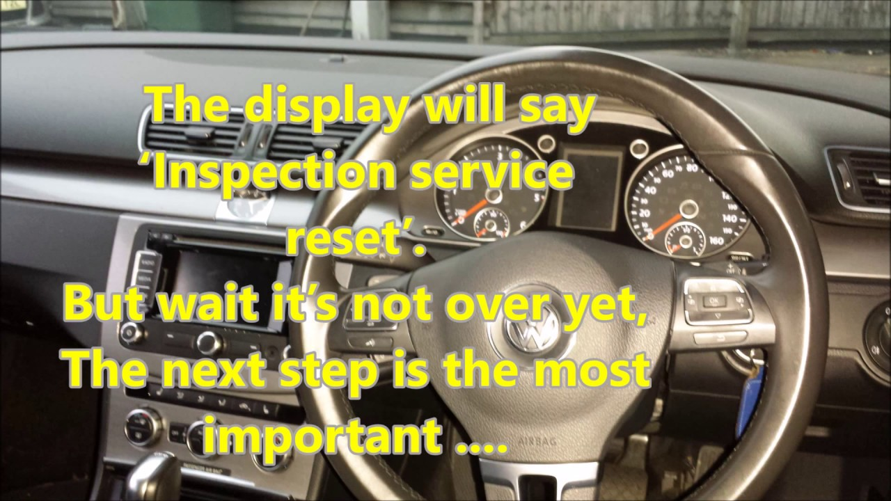 How To Reset INSPECTION Service Light On Your Volkswagen