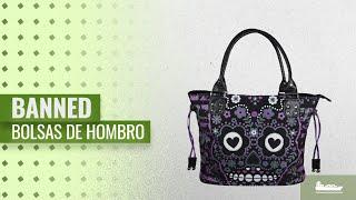 Bolsas De Hombro 2018, Los 10 Mejores Banned Productos: Banned Striped Purple Sugar Skull Handbag