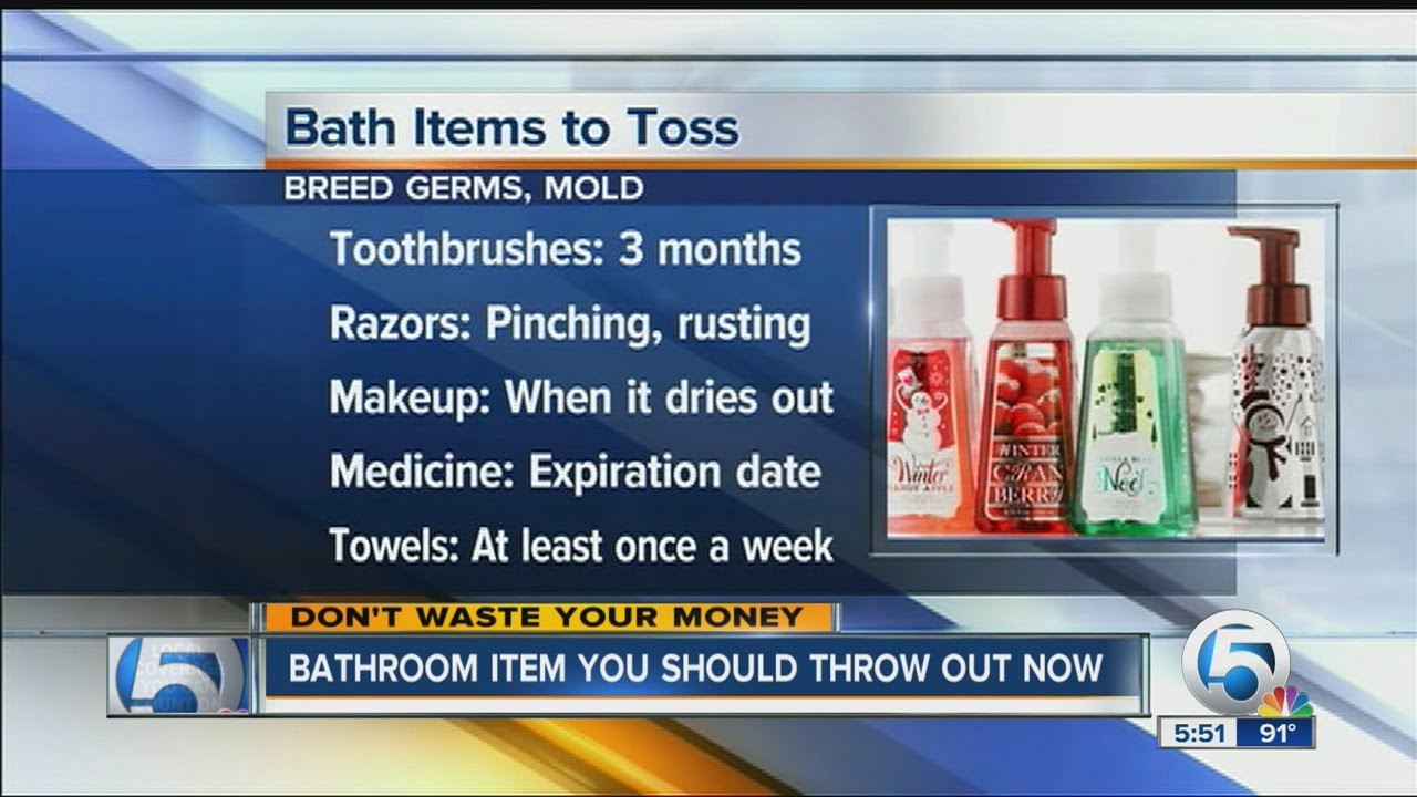 Bathroom item you should throw out now