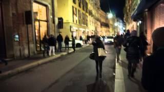 Милан вечером