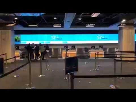 Large Flat Panel Videowalls installed at MCO Airport