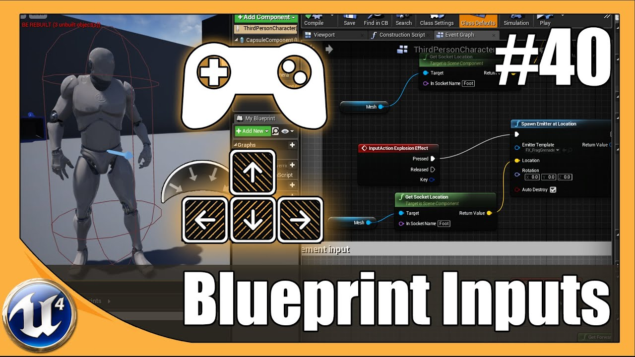 Blueprint input key bindings 40 unreal engine 4 beginner tutorial blueprint input key bindings 40 unreal engine 4 beginner tutorial series malvernweather Gallery