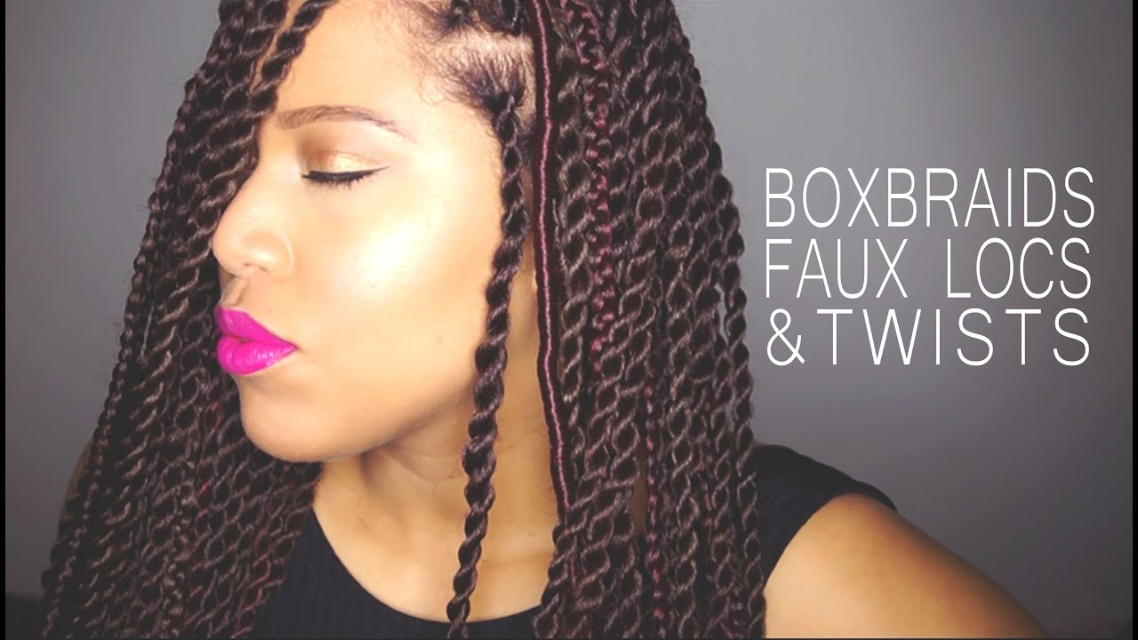 HOW TO Box Braids  Faux Locs  Twists on Natural Hair