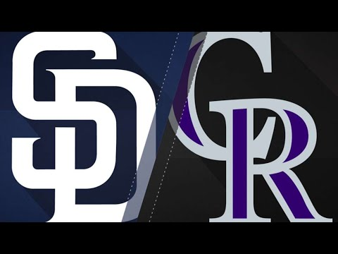 Rockies rally vs. Padres after benches clear: 4/11/18