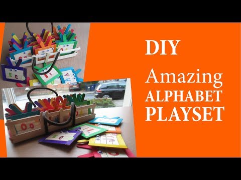 How to Make an Alphaset Play Set Using Popsicle Sticks