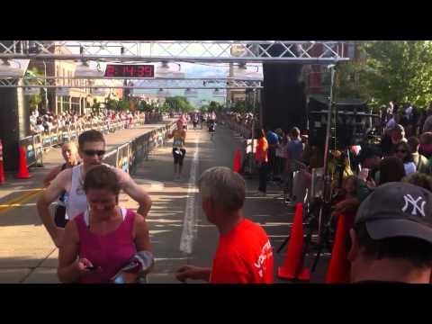 Lynn at the finish line