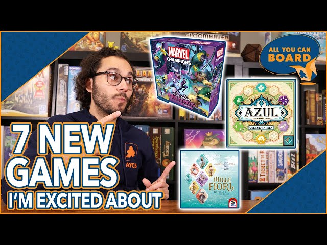 7 NEW GAMES I'm Excited About   Sept. 2021   MC Sinister Six, Azul 4, Mille Fiori + MORE!