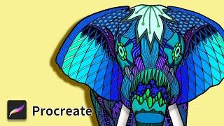 [tattoo style] Colorful elepha…
