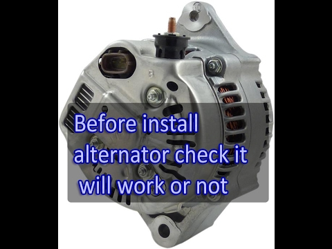 Before Install Toyota Denso Alternator after repair must check it will work or not