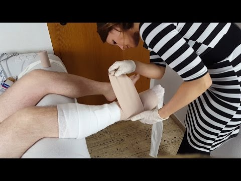 Real Person Medical Treatment Compression Bandage *ASMR*