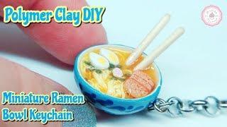 Miniature Ramen Keychain : Polymer Clay Ramen : Ramen Bowl Tutorial : DIY by Andisa Charms