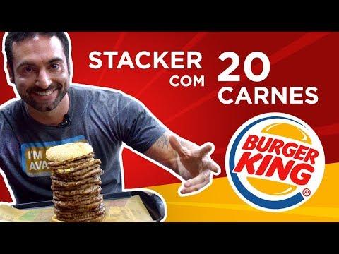 Burger King Mega Stacker 20.0 (O maior do Brasil!)