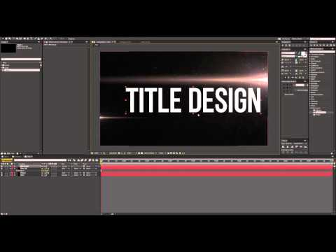 How to create a Cinematic Title Design │ After Effects Tutor
