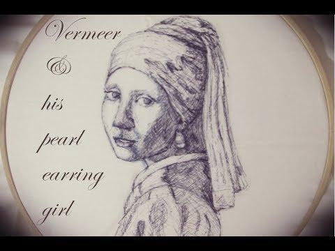 Vermeer, Girl with a Pearl Earring, + sketch