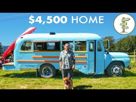 Young Man Builds Epic School Bus Tiny House for Only $4,500