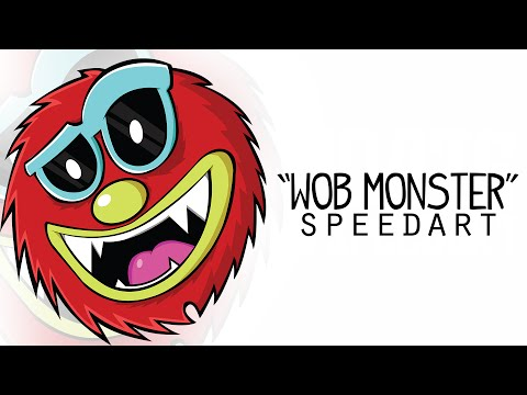"Adobe Illustrator Speedart | ""Wob Monster"" Illustration"