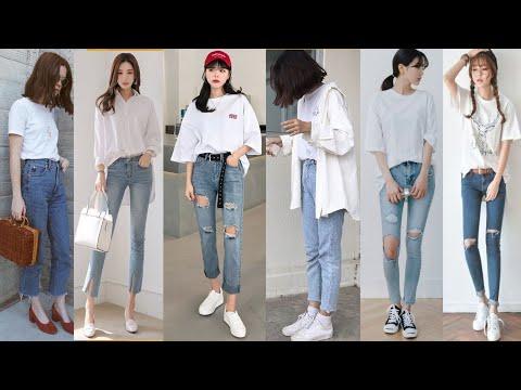 ธีมเสื้อขาว กางเกงยีนส์เท่ๆ|แฟชั่นกางเกงยีนส์ 2018 | ของมันต้องมี Ep.1 | Chom Style