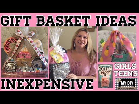 Inexpensive Gift Basket Ideas | Girls & Teens baskets | Dollar Tree!