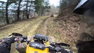 atv vs quad offroad can am renegade 1000 grizzly 660 gopro hd