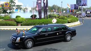 US President Donald Trump Road Show : Ahmadabad Airport to Motera Stadium with Halt at Sabarmati