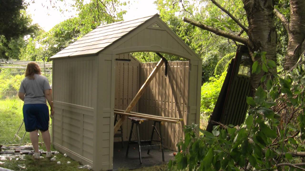 Time Lapse Chicken Coop Build Suncast Shed Youtube