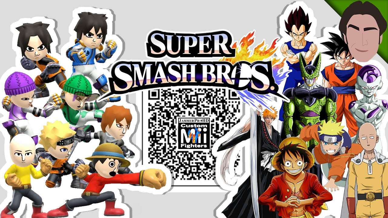 Goku, Naruto, Saitama, & MORE! - Custom Mii Fighter QR Codes for Smash Bros