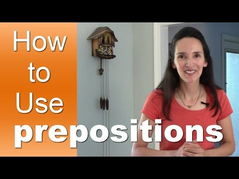 Learn How To Use English Prepositions With Jenniferesl