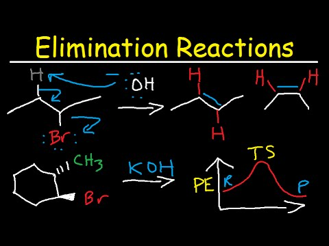 Organic Chemistry Elimination Reactions - Alkenes, Alkyl Halides, Alcohol Dehydration E1, E2, E1CB