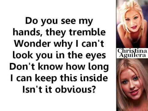 Christina Aguilera - Obvious (Lyrics On Screen)