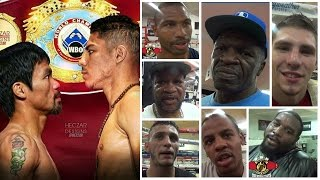 MAYWEATHER BOXING CLUB PREDICTIONS ON MANNY PACQUIAO VS JESSIE VARGAS