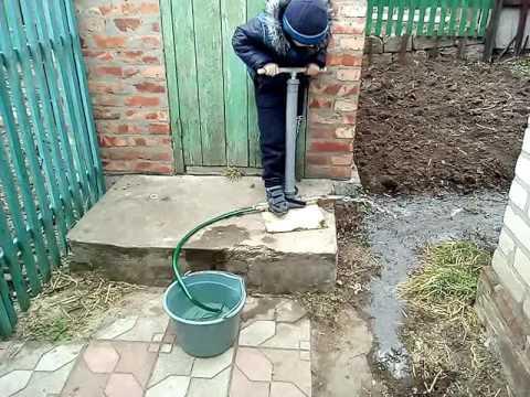 Ручной насос для воды своими руками