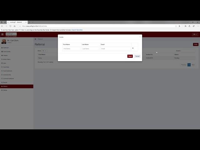 Justlogit.online - Admin/Owner Functions - Refer a friend to Justlogit