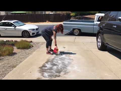 How to Clean an Oil Leak on the Driveway by a 1963 Chevy Truck