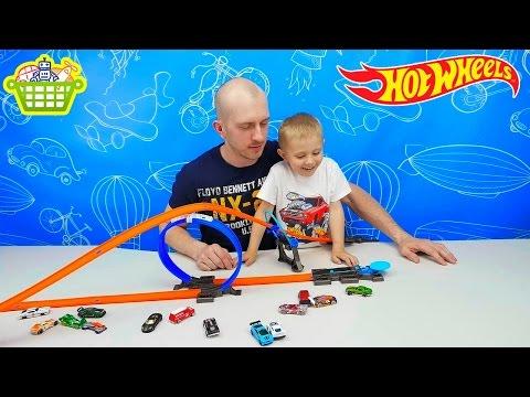 Хот Вилс Машинки и трек петля. Интересные игрушки для мальчиков. HOT WHEELS CARS смотреть в хорошем качестве