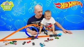 Хот Вилс Машинки и трек петля. Интересные игрушки для мальчиков. HOT WHEELS CARS