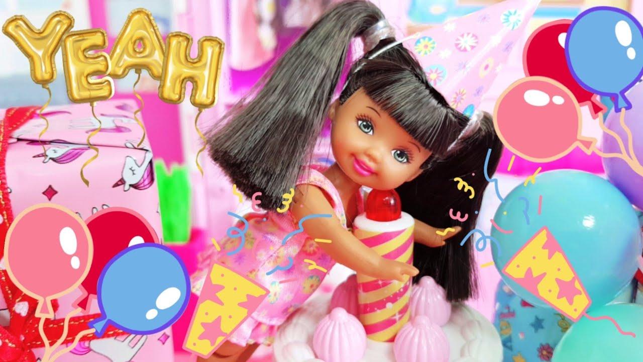 바비 인형 임신 출산 쌍둥이 아기 인형 캘리의 신나는 생일파티 병원놀이 의사놀이 Barbie Family Kelly Birthday Surprise Morning Routine
