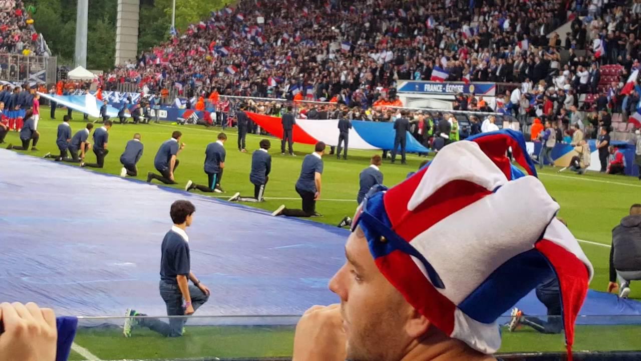 FRANCE ECOSSE Hymnes Nationaux Metz YouTube