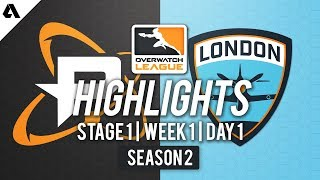 Philadelphia Fusion vs London Spitfire | Overwatch League S2 Highlights - Stage 1 Week 1 Day 1