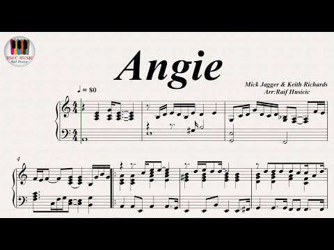 Angie - The Rolling Stones, Piano
