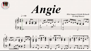 Video Angie - The Rolling Stones, Piano download MP3, 3GP, MP4, WEBM, AVI, FLV Mei 2018