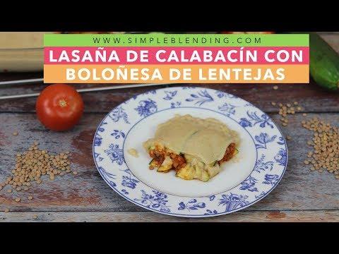 Lasaña de calabacín con boloñesa de lentejas | Lasaña vegana | Lasaña sin gluten