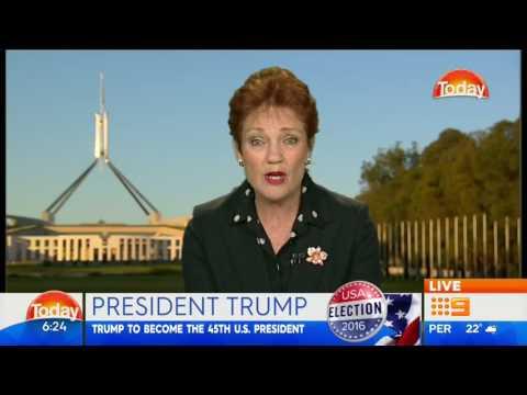 Pauline Hanson Celebrates TRUMP's Victory-The Today Show Australia