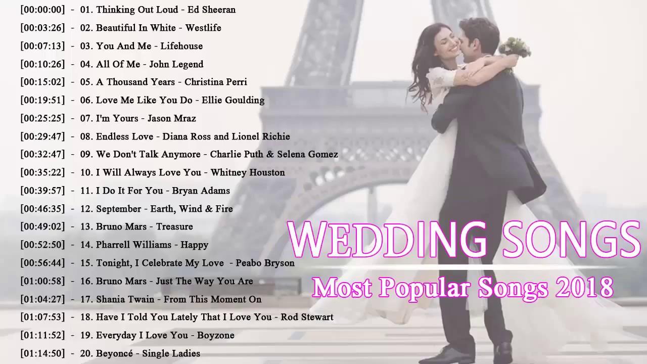 Wedding Songs Walk Down Aisle Church: 𝑩est 𝑴odern 𝑾edding 𝑺ongs 2018 ♪ღ♫ 𝑹omantic 𝑾edding 𝑺ongs